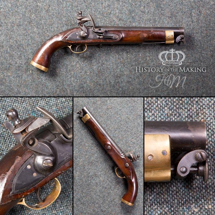 English 1830 Manton Flintlock Pistol- East India Pattern