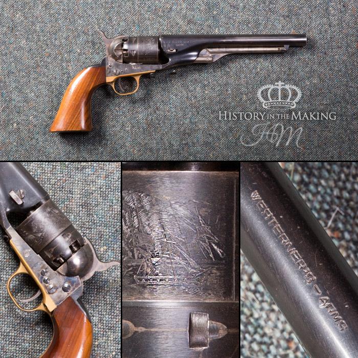 Colt Army Revolver- cap and ball- live firing replica – UK